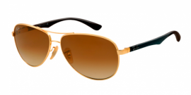 Gafas de Sol Ray-Ban CARBON FIBRE RB8313 001/51 ARISTA - CRYSTAL BROWN GRADIENT