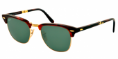 Gafas de Sol Ray-Ban RAY-BAN CLUBMASTER FOLDING RB2176 990 RED HAVANA - CRYSTAL GREEN