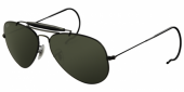 Gafas de Sol Ray-Ban OUTDOORSMAN RB3030 L9500 BLACK - CRYSTAL GREEN