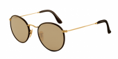 Gafas de Sol Ray-Ban ROUND CRAFT RB3475Q 112/53 MATTE ARISTA/BROWN LEATHER - CRYSTAL BROWN