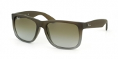 Gafas de Sol Ray-Ban RB4165 JUSTIN 854/7Z RUBBER BROWN ON GREY - GREEN GRADIENT