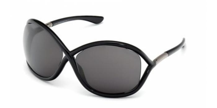 Gafas de sol Tom Ford FT0009 WITHNEY 199 negro brillo / gris