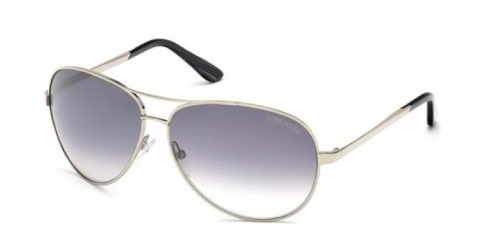 Gafas de sol Tom Ford FT0035 CHARLES 753 plata brillo / gris