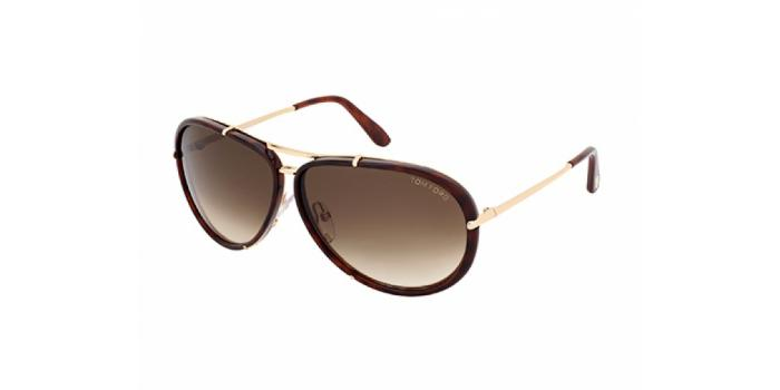 Gafas de sol Tom Ford FT0109 CYRILLE 28K dorado brillo / rovi