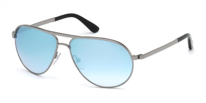Gafas de sol Tom Ford FT0144 MARKO 14X rutenio claro brillo