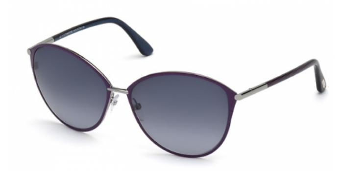 Gafas de sol Tom Ford FT0320 PENELOPE 14B rutenio claro brillo