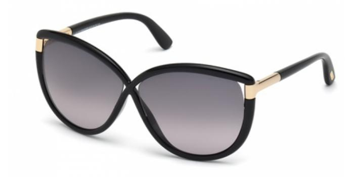 Gafas de sol Tom Ford FT0327 ABBEY 01B negro brillo / gris