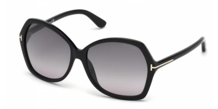 Gafas de sol Tom Ford FT0328 CAROLA 01B negro brillo / gris