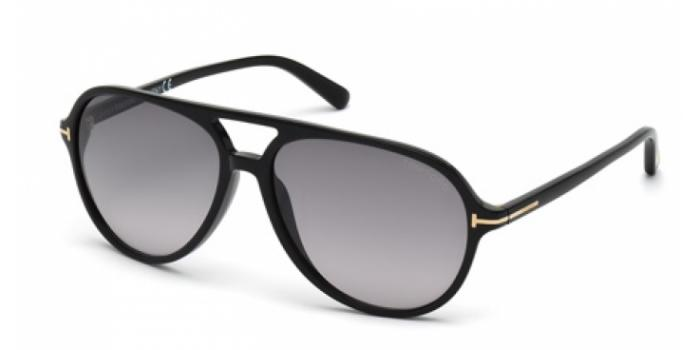 Gafas de sol Tom Ford FT0331 JARED 01B negro brillo / gris