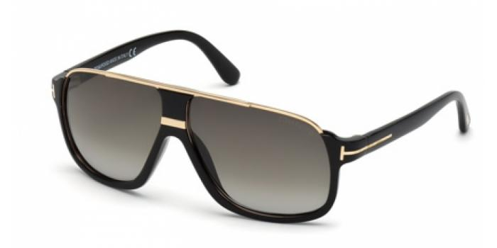 Gafas de sol Tom Ford FT0335 ELIOTT 01P negro brillo / verde