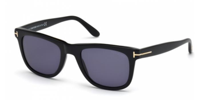 Gafas de sol Tom Ford FT0336 LEO 01V negro brillo / azul