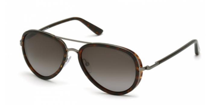 Gafas de sol Tom Ford FT0341 MILES 09P antracita mate / ver