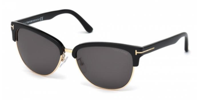 Gafas de sol Tom Ford FT0368 FANY 01A negro brillo / gris
