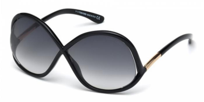 Gafas de sol Tom Ford FT0372 IVANNA 01B negro brillo / gris