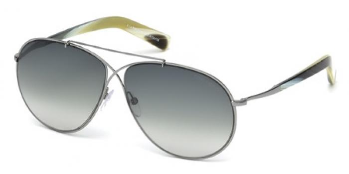 Gafas de sol Tom Ford FT0374 EVA 15B rutenio claro mate /