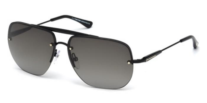 Gafas de sol Tom Ford FT0380 NILS 02B negro mate / gris de
