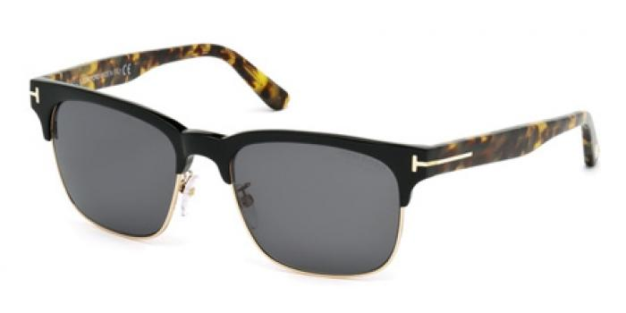 Gafas de sol Tom Ford FT0386 LOUIS 01D negro brillo / gris