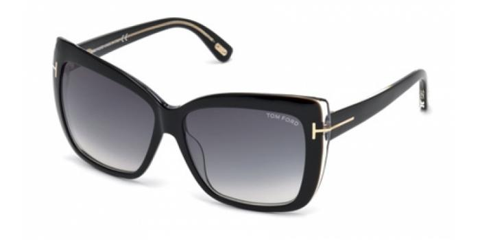 Gafas de sol Tom Ford FT0390 IRINA 01B negro brillo / gris