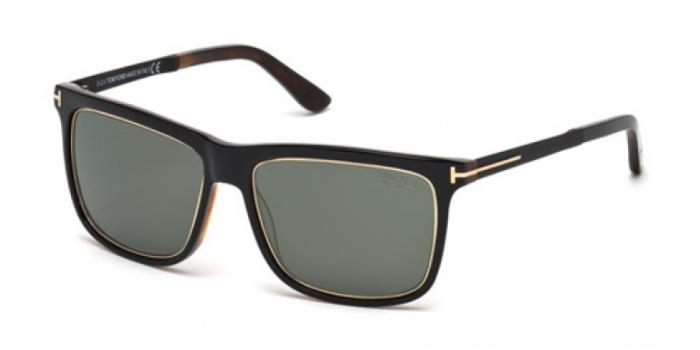 Gafas de sol Tom Ford FT0392 KARLIE 01R negro brillo / verde