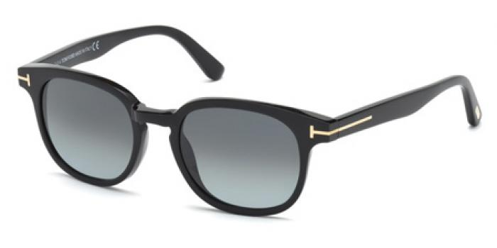 Gafas de sol Tom Ford FT0399 FRANK 01N negro brillo / verde