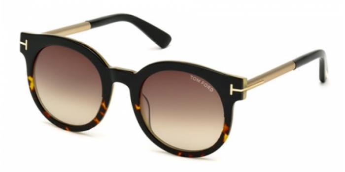 Gafas de sol Tom Ford FT0435 JANINA 01K negro brillo / rovie