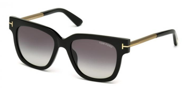 Gafas de sol Tom Ford FT0436 TRACY 01B negro brillo / gris