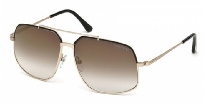 Gafas de sol Tom Ford FT0439 RONNIE 01G negro brillo / marró