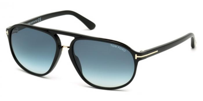Gafas de sol Tom Ford FT0447 JACOB 01P negro brillo / verde