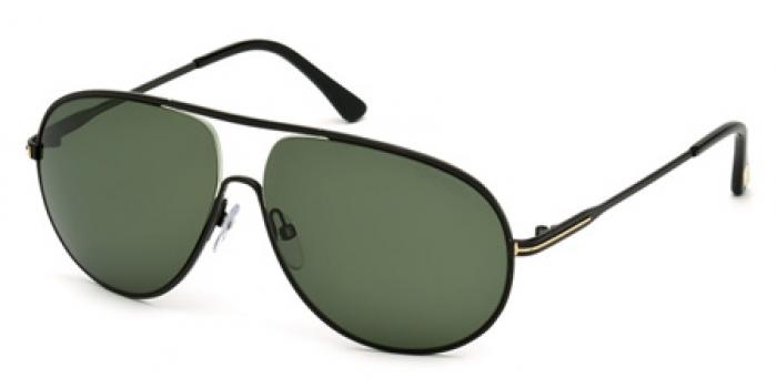 Gafas de sol Tom Ford FT0450 CLIFF 02N negro mate / verde
