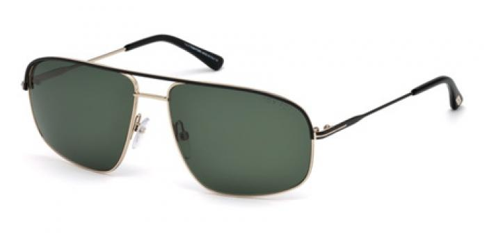 Gafas de sol Tom Ford FT0467 JUSTIN 02N negro mate / verde