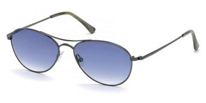 Gafas de sol Tom Ford FT0495 OLIVER 12W rutenio brillo oscur