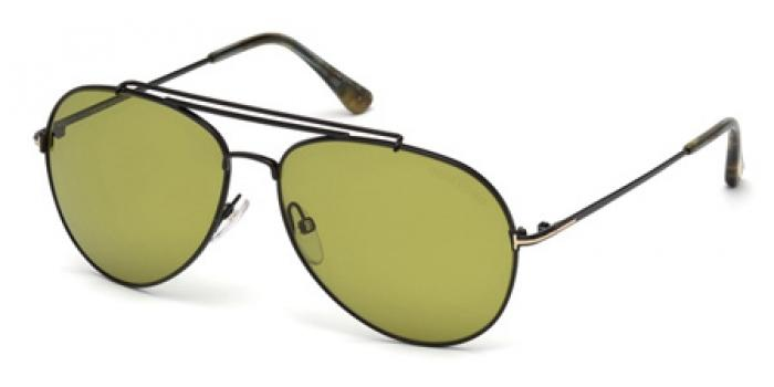 Gafas de sol Tom Ford FT0497 INDIANA 01N negro brillo / verde