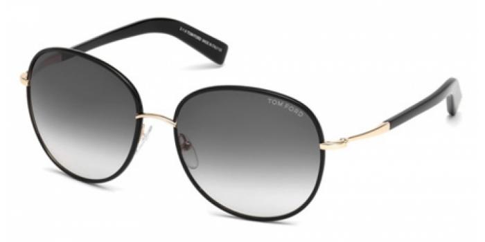 Gafas de sol Tom Ford FT0498 GEORGIA 01B negro brillo / gris
