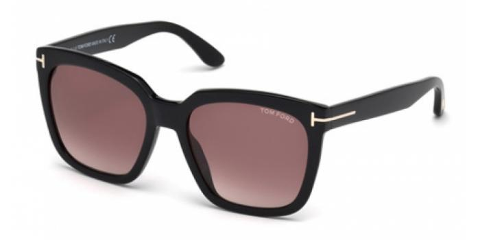Gafas de sol Tom Ford FT0502 AMARRA 01T negro brillo / burde