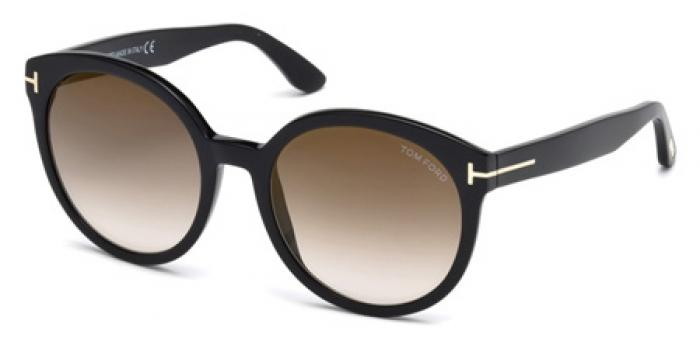 Gafas de sol Tom Ford FT0503 PHILIPPA 01G negro brillo / marró