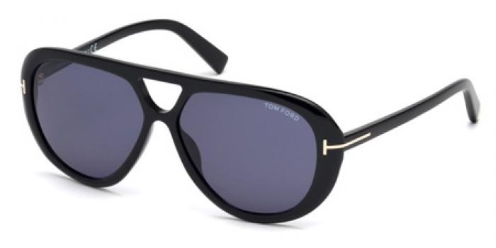 Gafas de sol Tom Ford FT0510 MARLEY 01V negro brillo / azul