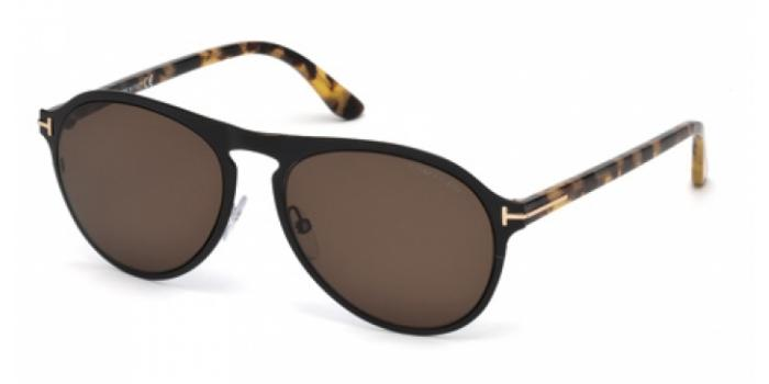 Gafas de sol Tom Ford FT0525 BRADBURRY 01E negro brillo / marró