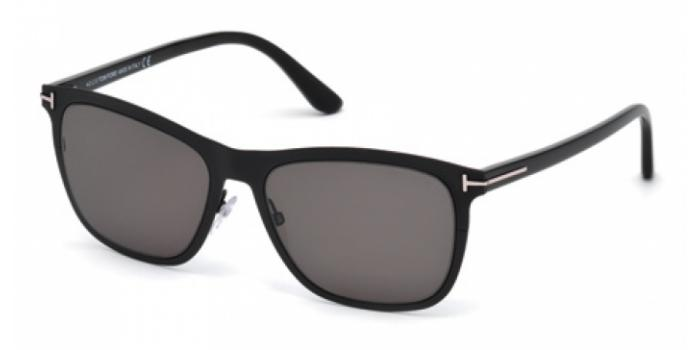 Gafas de sol Tom Ford FT0526 ALASDHAIR 02A negro mate / gris