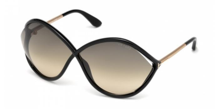 Gafas de sol Tom Ford FT0528 LIORA 01B negro brillo / gris
