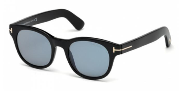 Gafas de sol Tom Ford FT0531 FISHER 01V negro brillo / azul