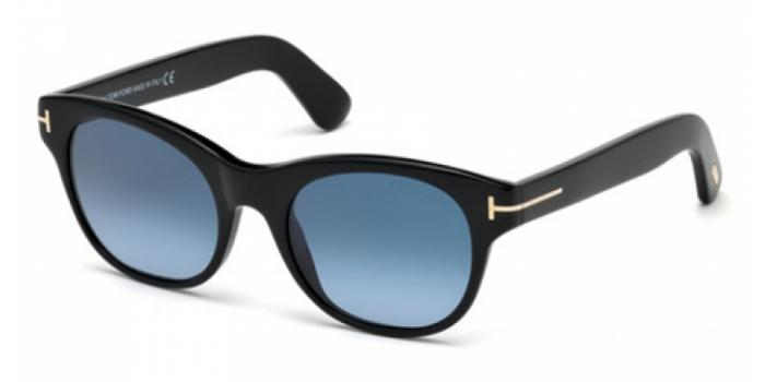 Gafas de sol Tom Ford FT0532 ALLY 01W negro brillo / azul