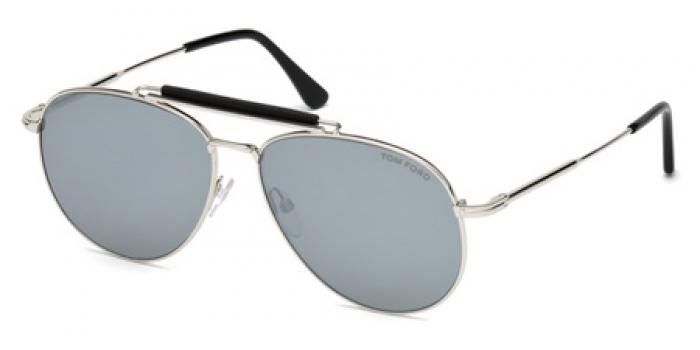 Gafas de sol Tom Ford FT0536 SEAN 16C plata brillo / gris