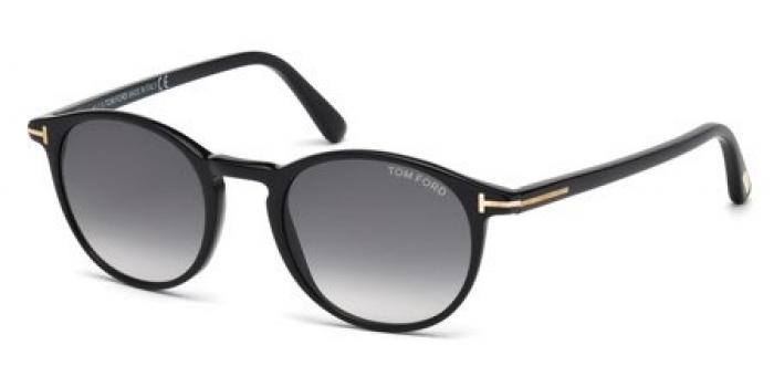 Gafas de sol Tom Ford FT0539 ANDREA 01B negro brillo / gris