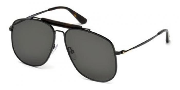 Gafas de sol Tom Ford FT0557 CONNOR 01A negro brillo / gris