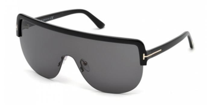 Gafas de sol Tom Ford FT0560 ANGUS 01A negro brillo / gris