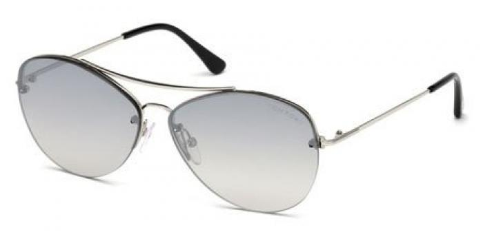Gafas de sol Tom Ford FT0566 MARGRET 18C rodio brillo / gris