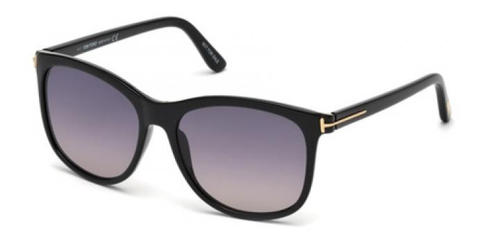 Gafas de sol Tom Ford FT0567 FIONA 01B negro brillo / gris