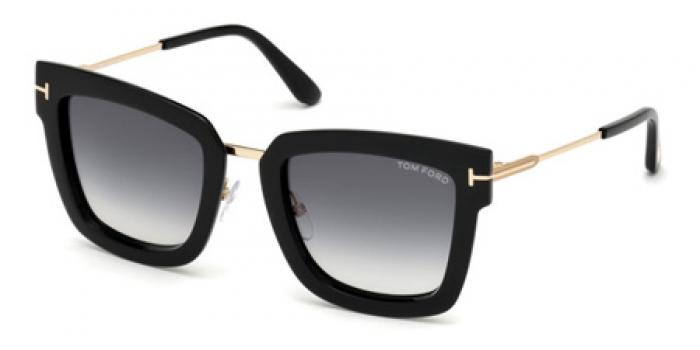 Gafas de sol Tom Ford FT0573 LARA 01B negro brillo / gris