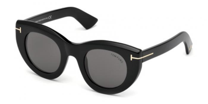 Gafas de sol Tom Ford FT0583 MARCELLA 01A negro brillo / gris