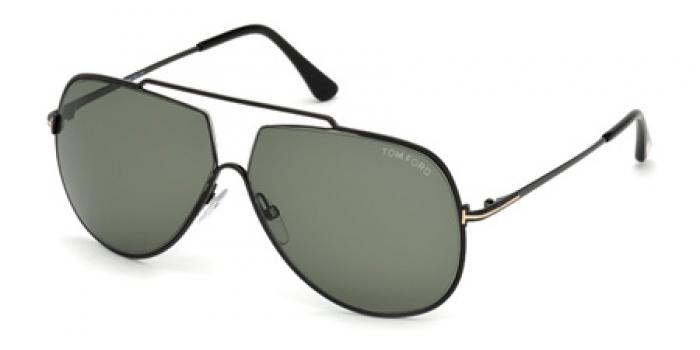 Gafas de sol Tom Ford FT0586 CHASE 01N negro brillo / verde